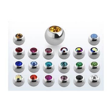 Bolas acero con joyería 1.2 mm.