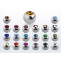 Bolas acero con joyeria 1.6 mm