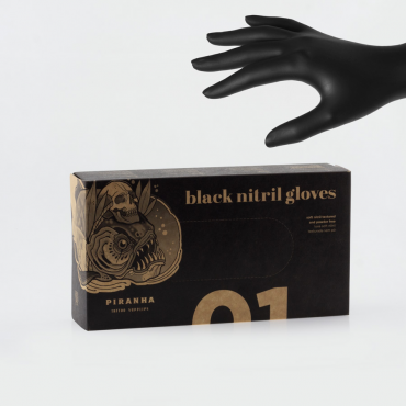 Guantes Nitrilo color negro