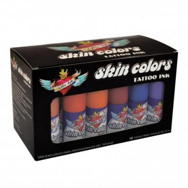 Lote 18 tintas Skin color