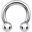 Circular barbell con bolas 8 mm.