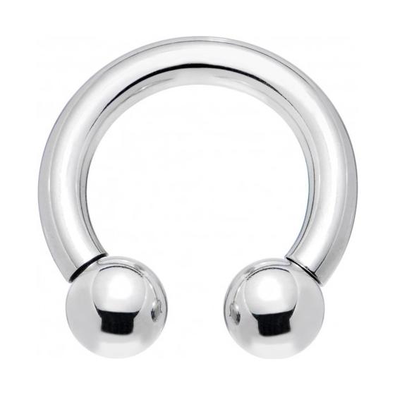 Circular barbell con bolas 5 mm.