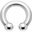 Circular barbell con bolas 3 mm.
