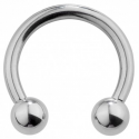 Circular barbell con bolas 1.6 mm.