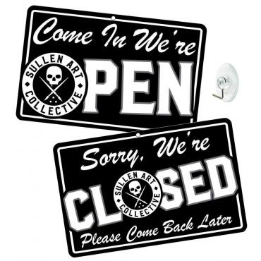 SULLEN OPEN/CLOSE STORE SIGN BLACK
