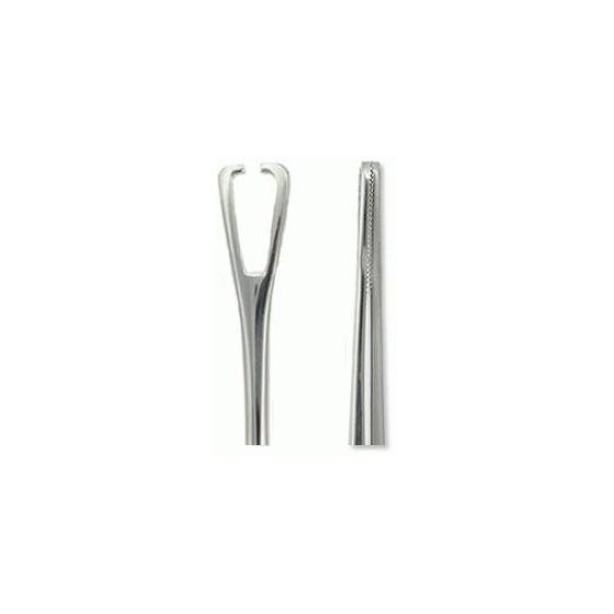 Forceps triangular abierto
