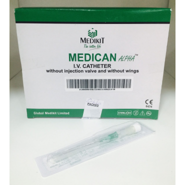 Cateter Medikit 22G Color Azul