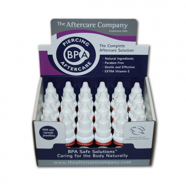 Caja Piercing BPA aftercare - 24 unid de 10 ml