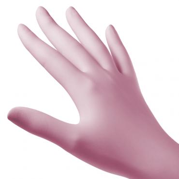 Guantes Nitrilo color rosa