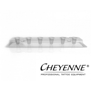 Portacapsulas deschable Cheyenne 6 de 10 mm - 80 unid.