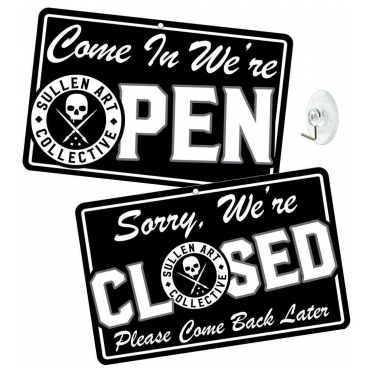 SULLEN OPEN/CLOSE STORE SIGN BLACK