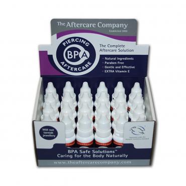 Caja Piercing BPA aftercare - 24 unid de 10 ml
